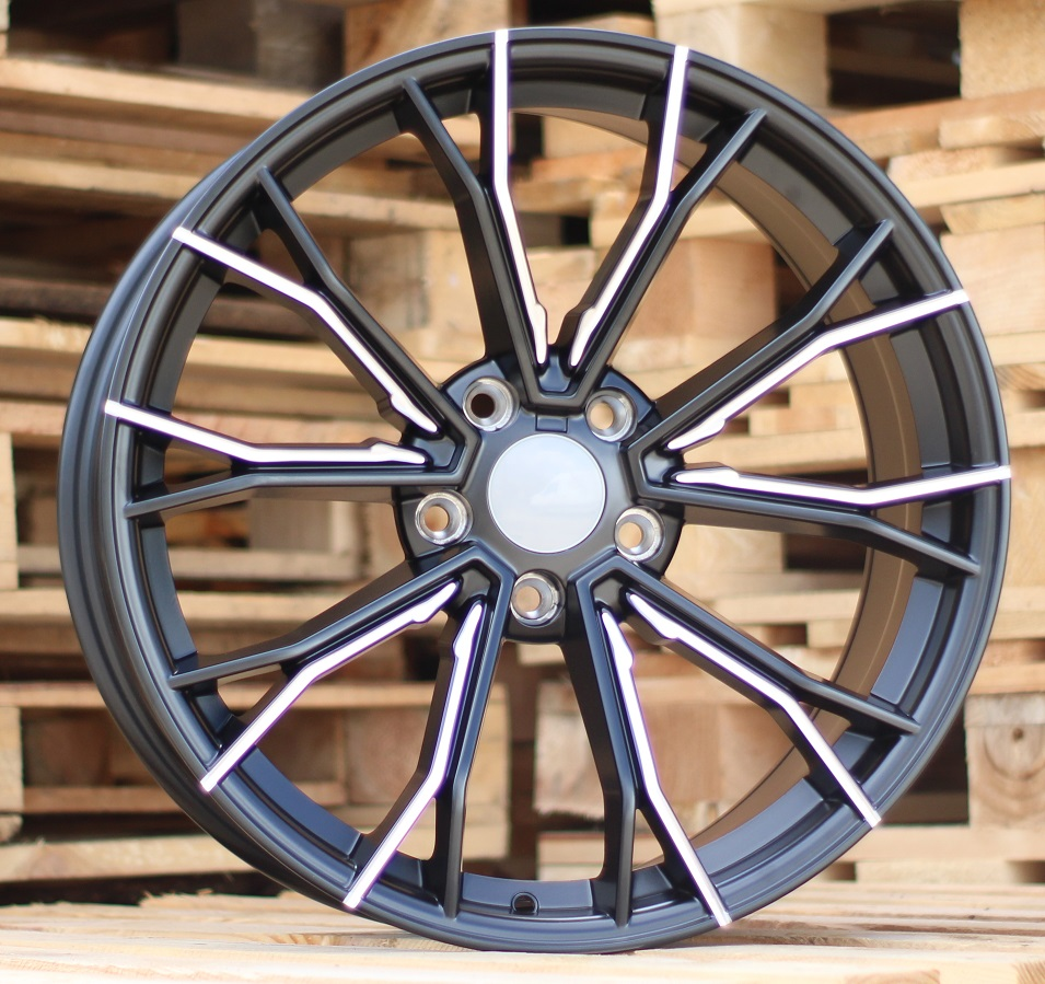 B20X10 5x112 ET38 66.5 A5385 Black Half Matt+Milling (Rear+Front) RWR BM (New G Series) (+15eur)(P+A) 10x20 ET38 5x112