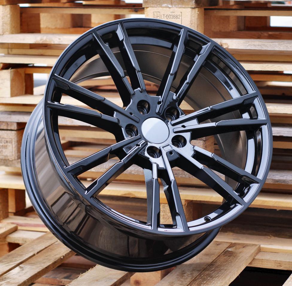 B20X10 5X112 ET35 66.56 A7065 BLACK (Rear+Front) RWR BM (New G series) (P) 10x20 ET35 5x112