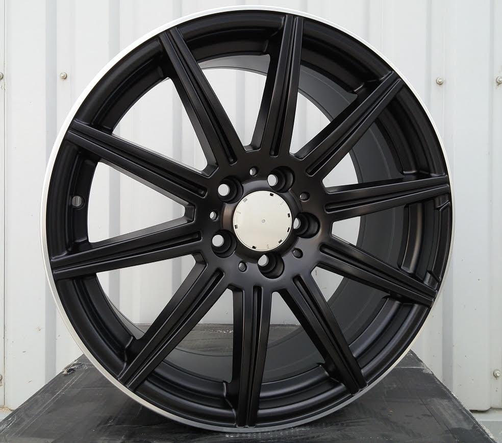M17X7.5 5X112 ET45 66.5 BY1061 (FE018) Black matt + PL RWR MER (R+K6) 7.5x17 ET45 5x112
