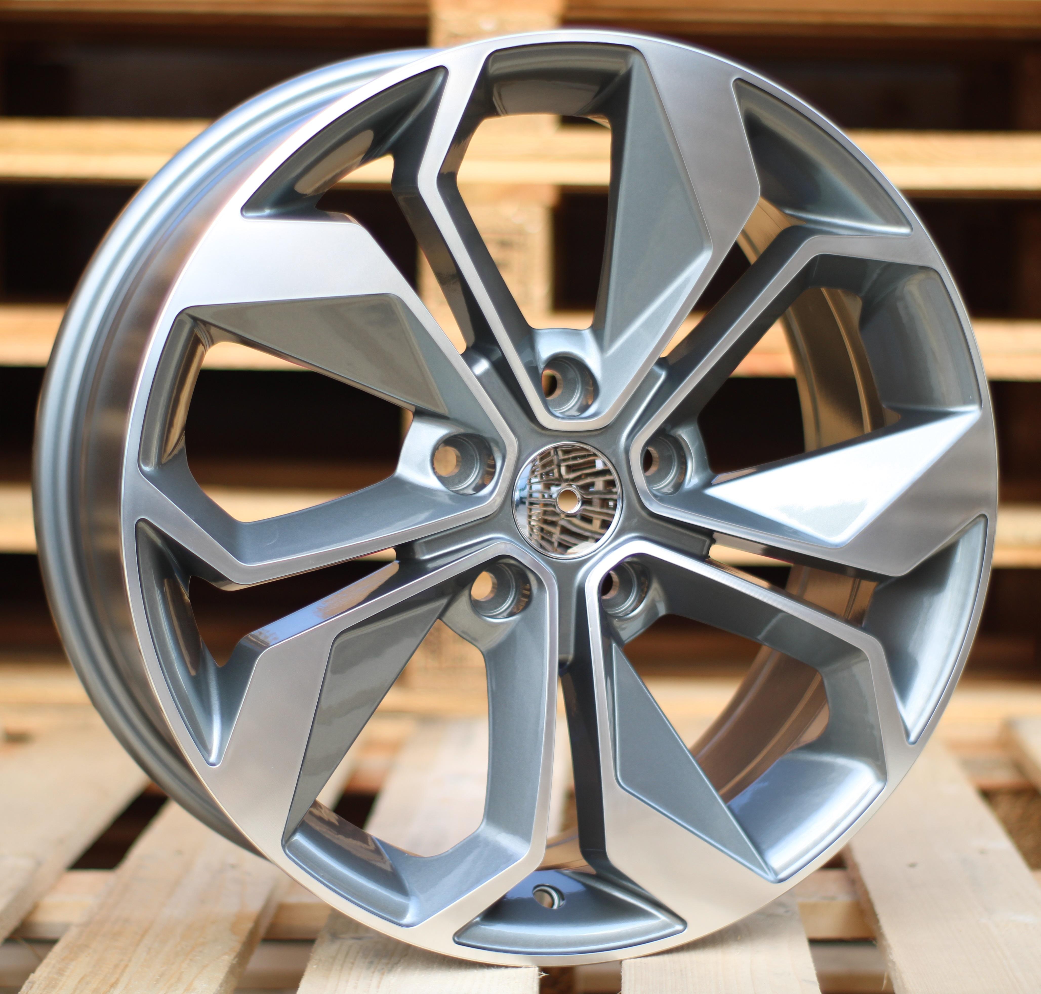 R16X6.5 5X114.3 ET45 66.1 BK5168 MG+Powder Coating RWR Renault (+2eur) (D4)## 6.5x16 ET46 5x114.3