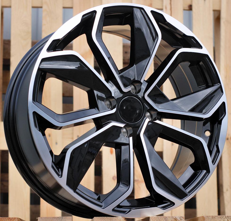 R14X5.5 4X100 ET40 60.1 BK5296 MB+Powder Coating RWR Renault (+2eur) ()## 5.5x14 ET40 4x100
