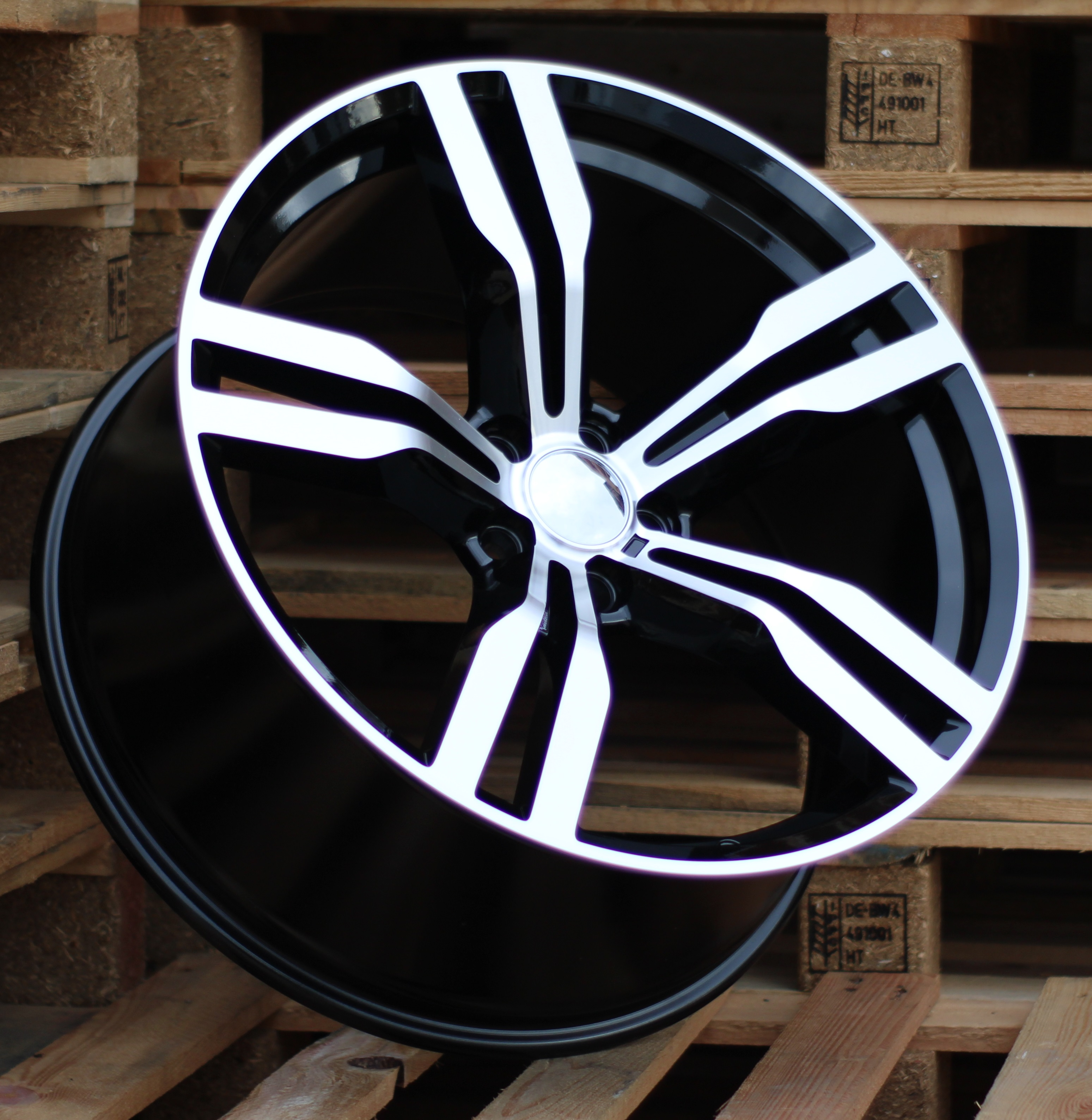 B20X8.5 5x120 ET25 72.56 BK5327 MB+Powder coating (Rear+Front) RWR BM (+5eur) ()## 8.5x20 ET24 5x120