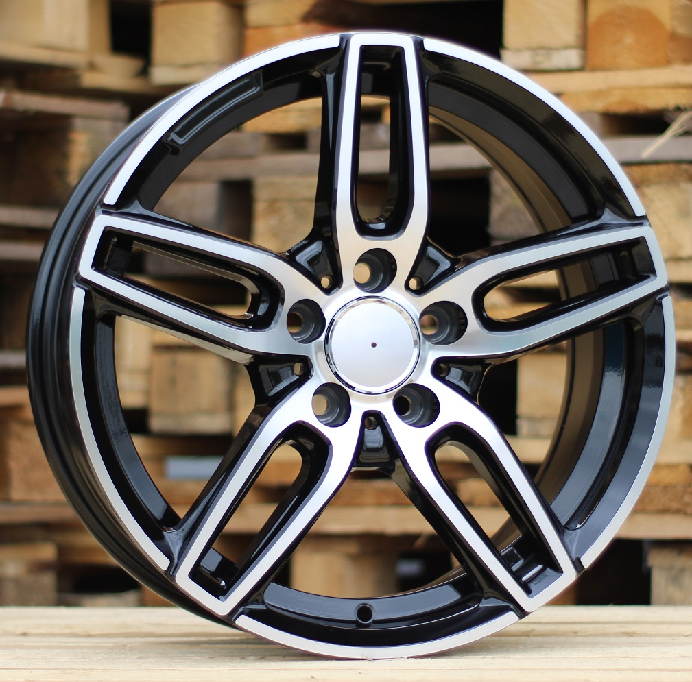 M17X7.5 5X112 ET45 66.6 BK5434 MB+Powder coating RWR MER (+3eur) (P)## 7.5x17 ET45 5x112