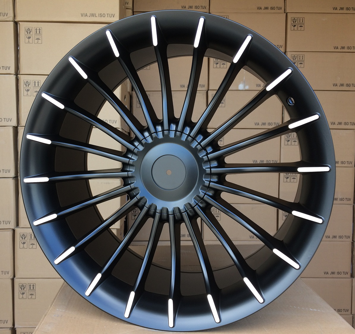 B18X9.5 5X120 ET20 74.1 BK273 MB half matt (Rear+Front) RWR Style Alpina (P)## 9.5x18 ET18 5x120