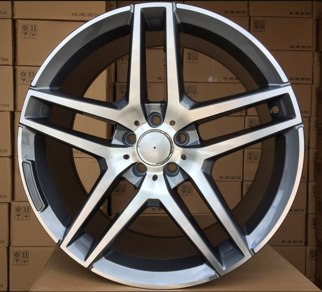 M19X9.5 5X112 ET43 66.6 BK967 MG+Powder Coating (REAR+FRONT) RWR MER (+3eur) (K4)## 9.5x19 ET44 5x112