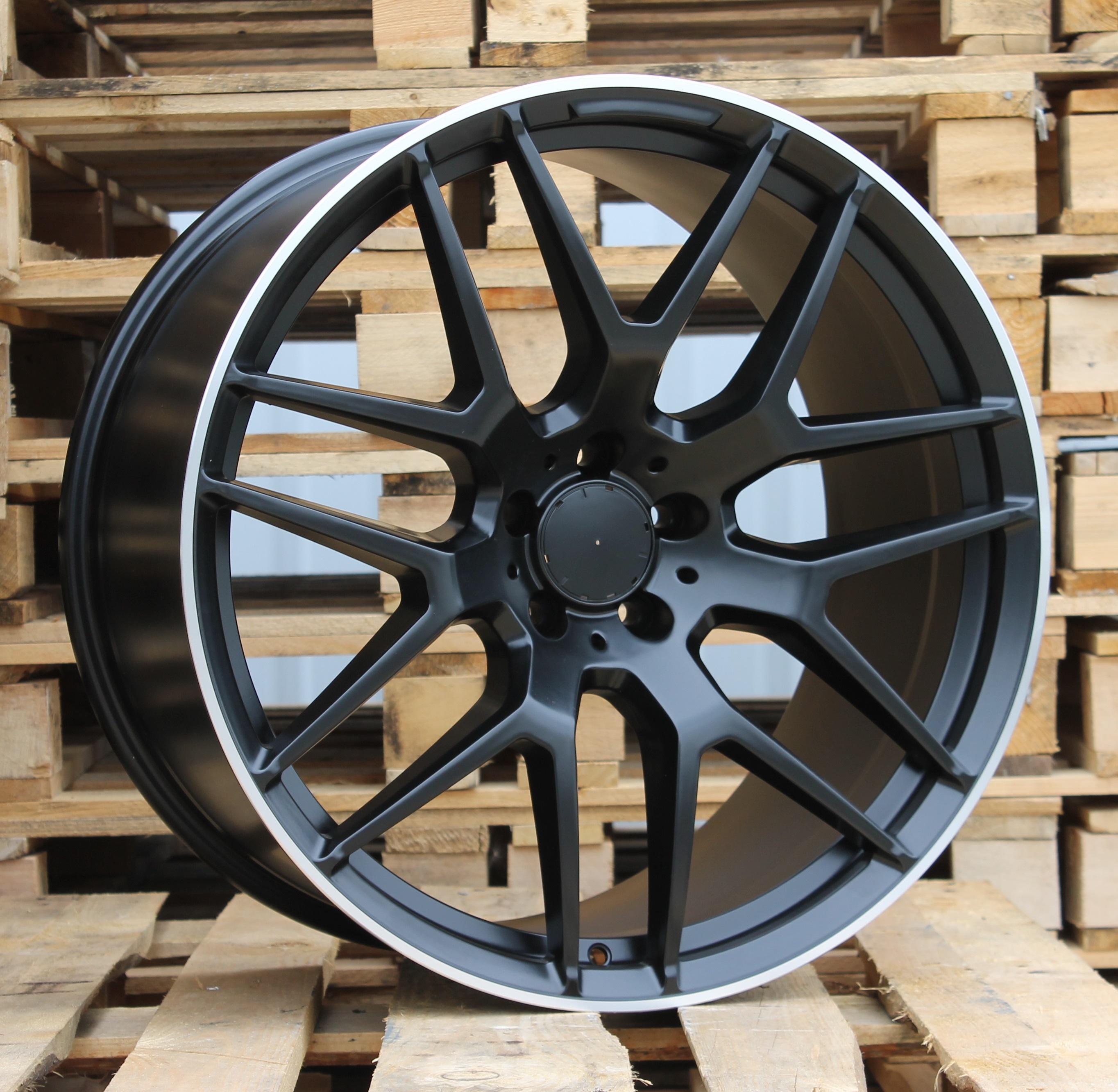 M21X11 5x112 ET38 66.5 FE115 (HE762) Black Half Matt+PL (Rear) RWR MER (GLE coupe) (P1)## 11x21 ET40 5x112