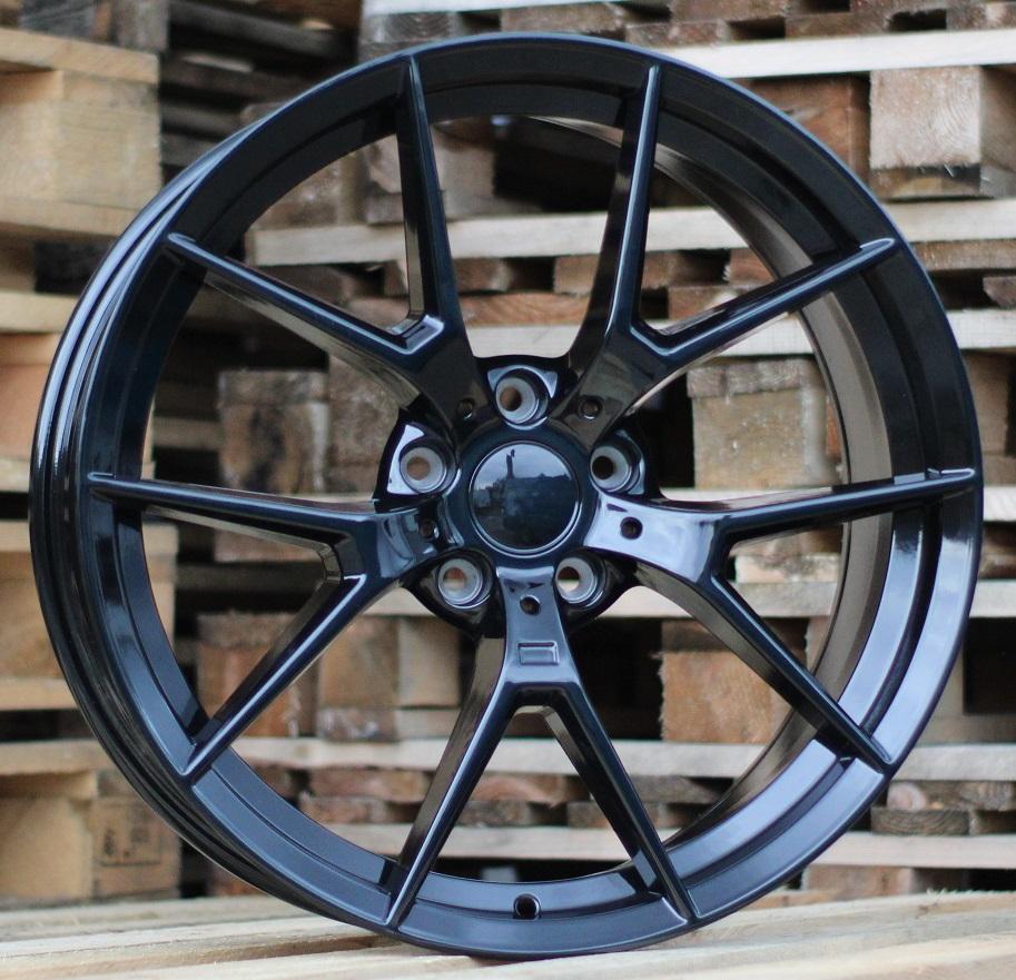 B20X10 5X120 ET42 72.6 HE761 Black Half Matt (Rear+Front) RWR BM (P1)## 10x20 ET42 5x120