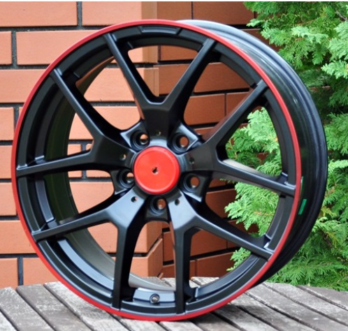 M17X7.5 5X112 ET45 66.5 MB509 (FR779) Black+red line RWR MER (R+K6) 7.5x17 ET44 5x112