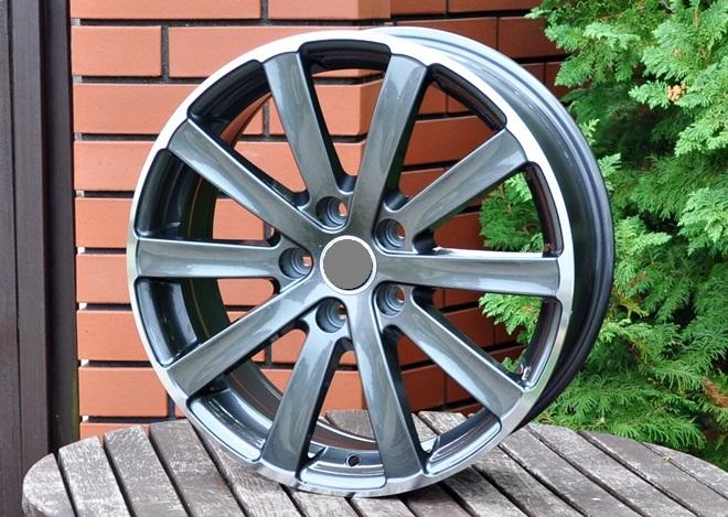 W17X7 5X112 ET45 57.1 SK518 (FR793) Gun metal+polished lip RWR W (L6) 7x17 ET45 5x112