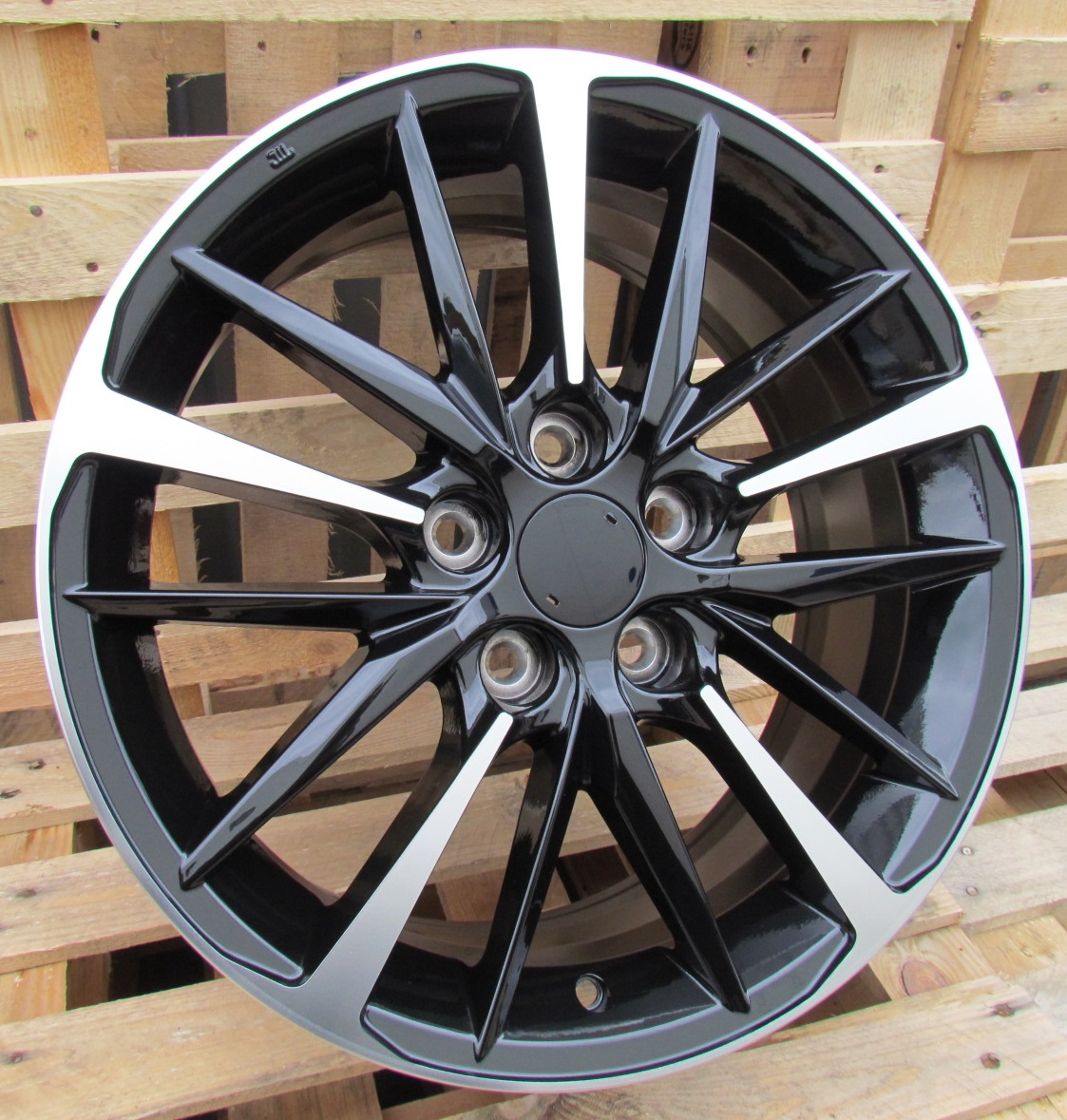 T17X7 5X114.3 ET45 60.1 XFE130 BLACK MACHINED FACE RWR TOY (P) 7x17 ET45 5x114.3