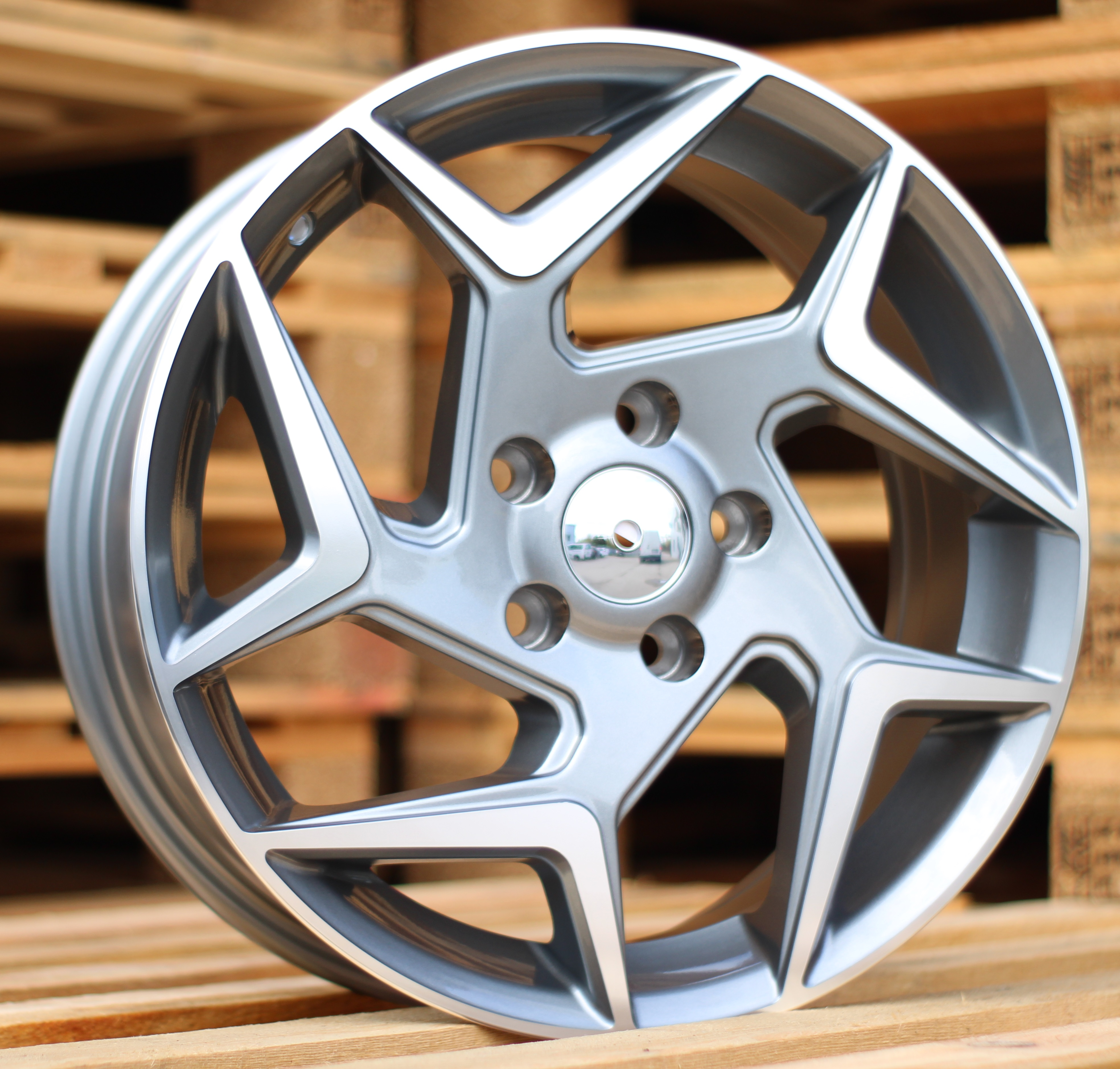 F15X6.5 4X108 ET40 63.3 XFE172 (BK5577) MG+Powder Coating RWR FOR (+2eur) (L6)## 6.5x15 ET41 4x108