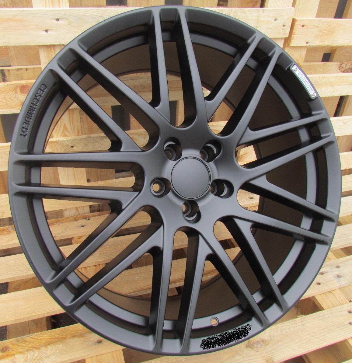 M20X9.5 5X112 ET46 66.5 8102 Black half matt (XB) RWR MER Style Brabus (+10eur)(A) 9.5x20 ET46 5x112